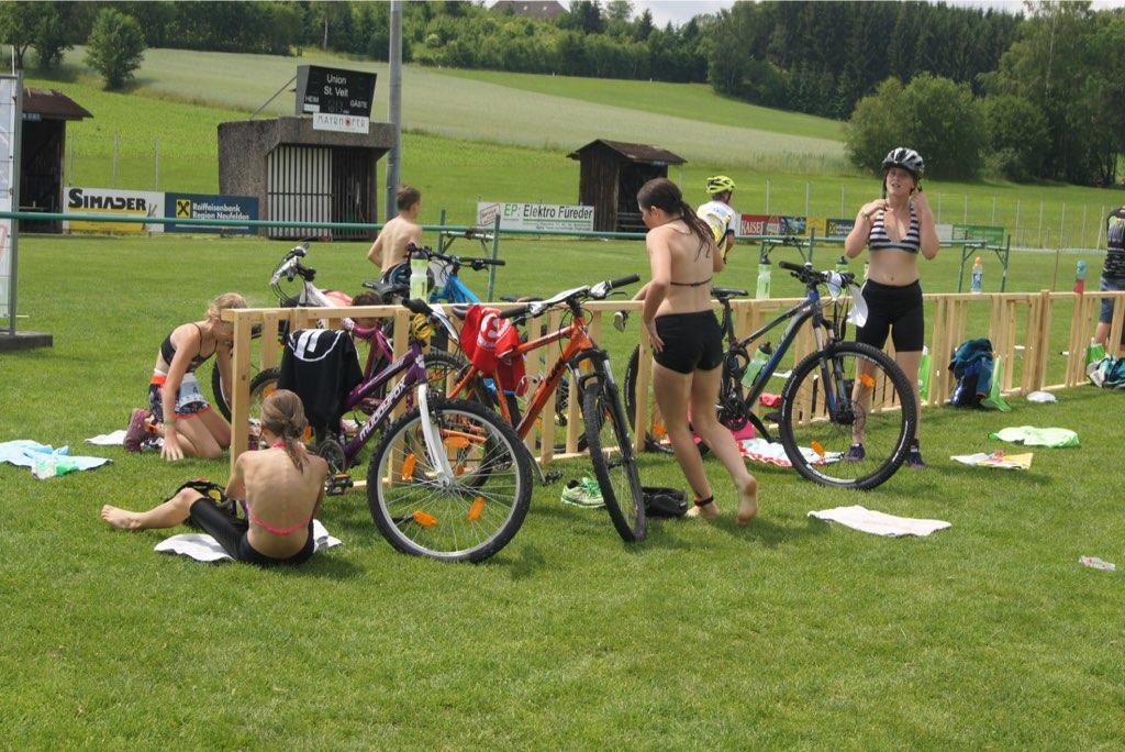 partner-Schüler Triathlon Radfahren 2018